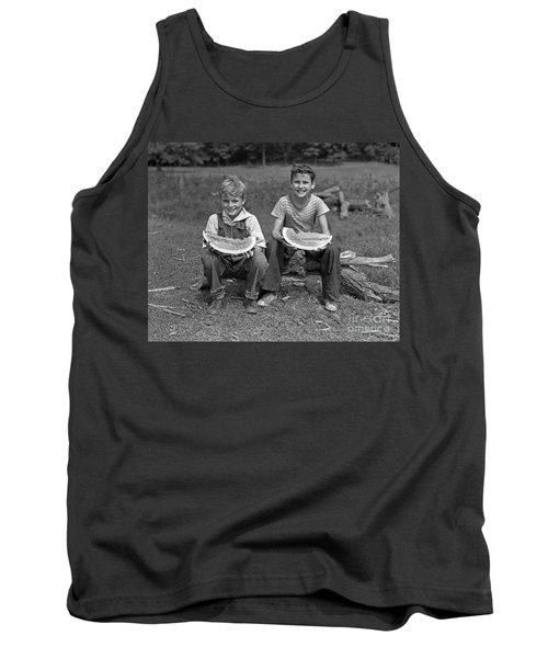 Boys Eating Watermelons, C.1940s Tank Top by H. Armstrong Roberts/ClassicStock