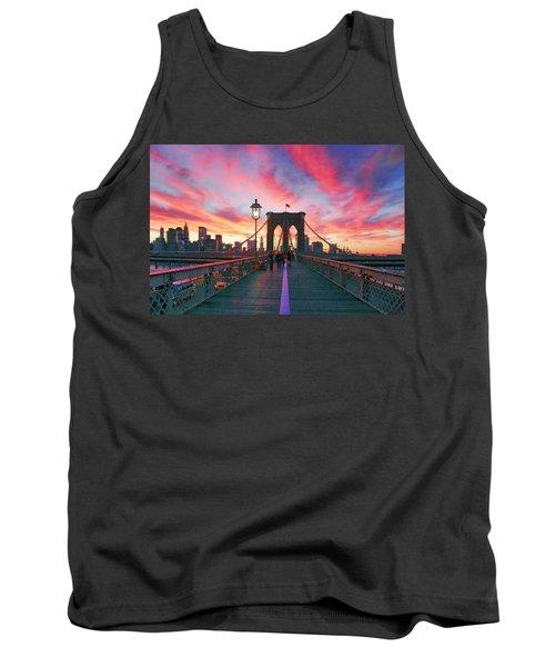 Brooklyn Sunset Tank Top by Rick Berk