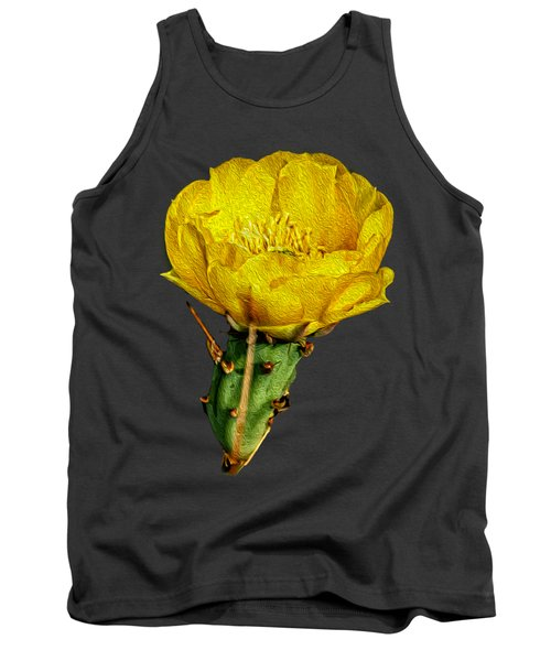 Cactus Flower Op26 Tank Top by Mark Myhaver
