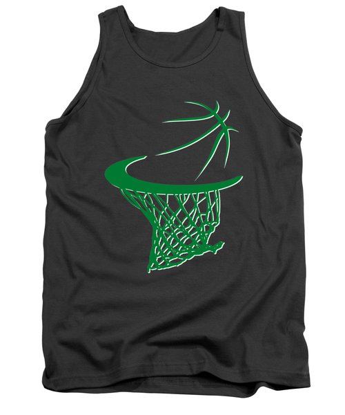 Celtics Basketball Hoop Tank Top by Joe Hamilton