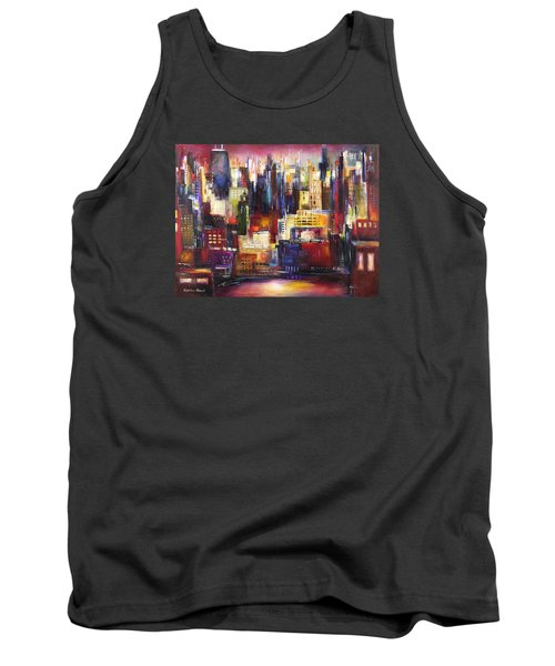Chicago City View Tank Top by Kathleen Patrick