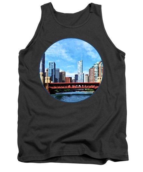 Chicago Il - Lake Shore Drive Bridge Tank Top by Susan Savad