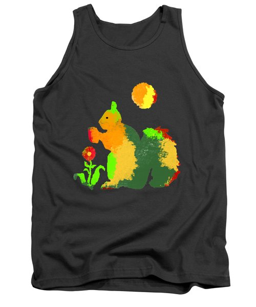Colorful Squirrel 1 Tank Top by Holly McGee