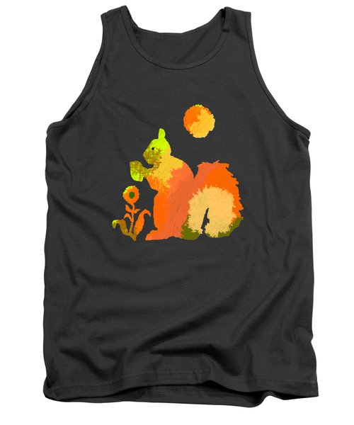 Colorful Squirrel 2 Tank Top by Holly McGee
