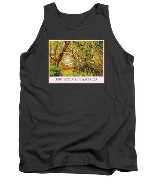 Tank Top featuring the photograph Dogwood Tree In The Forest Spring by A Gurmankin