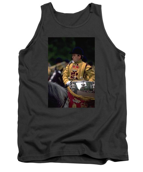 Tank Top featuring the photograph Drum Horse At Trooping The Colour by Travel Pics