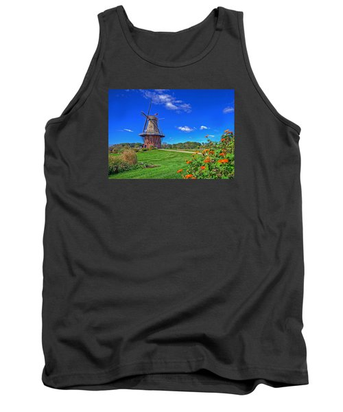 Tank Top featuring the photograph Dutch Windmill by Rodney Campbell