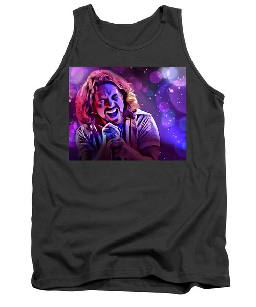 Eddie Vedder Portrait Tank Top by Scott Wallace