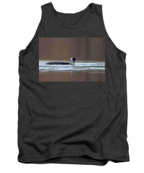 Feeding Common Loon Tank Top by Bill Wakeley