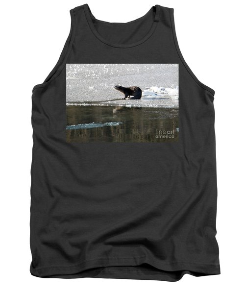 Frosty River Otter  Tank Top by Mike Dawson