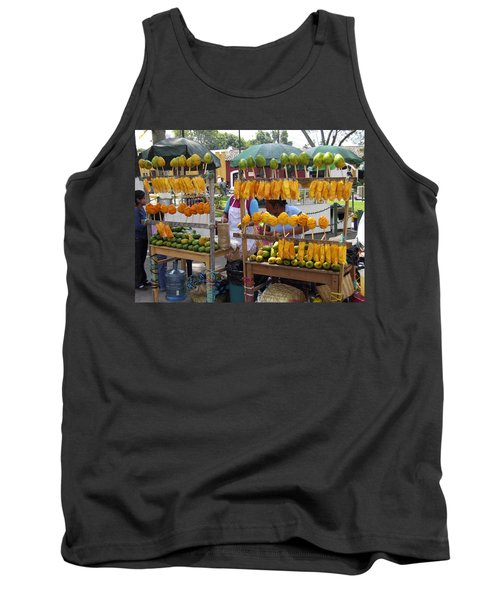 Fruit Stand Antigua  Guatemala Tank Top by Kurt Van Wagner