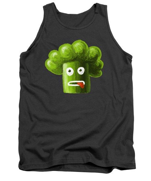 Funny Broccoli Tank Top by Boriana Giormova