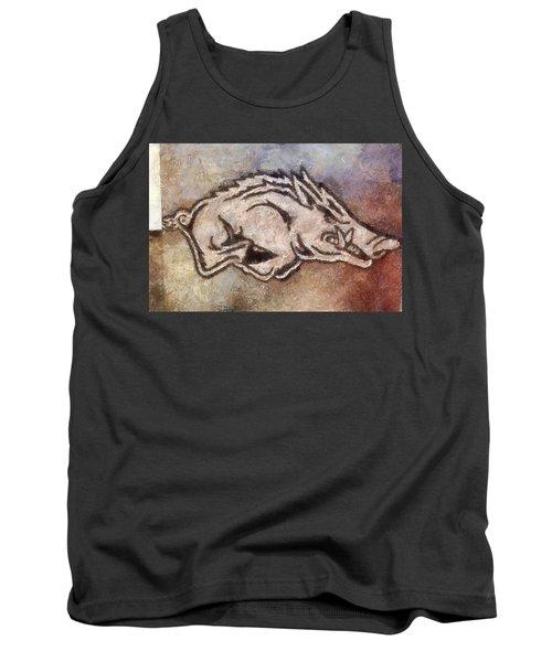 Go Hogs Go  Tank Top by Dawn Bearden
