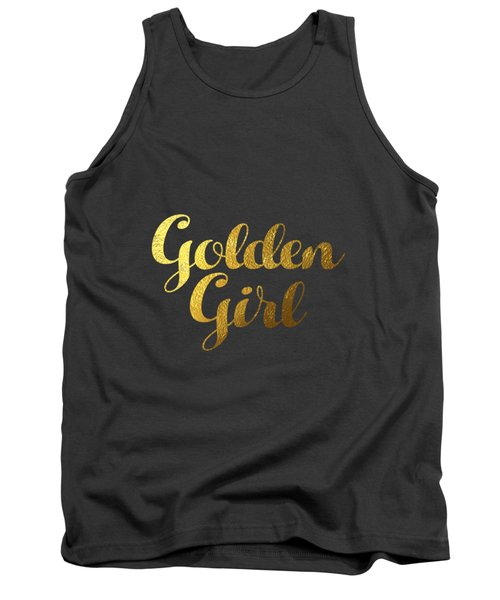 Golden Girl Typography Tank Top by Bekare Creative