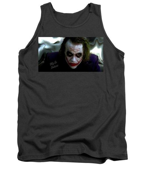 Heath Ledger Joker Why So Serious Tank Top by David Dehner
