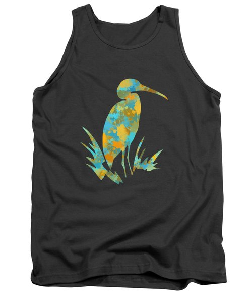 Heron Watercolor Art Tank Top by Christina Rollo
