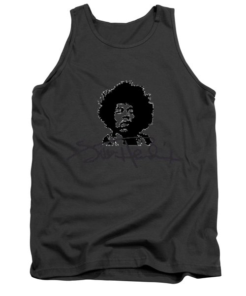 Jimi Hendrix Purple Haze Tank Top by David Dehner
