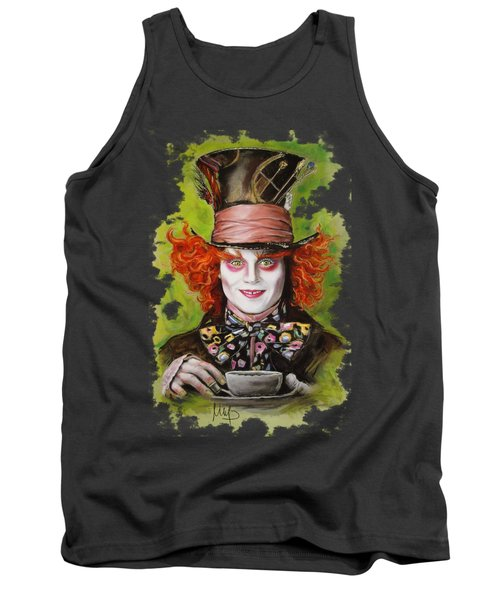 Johnny Depp As Mad Hatter Tank Top by Melanie D