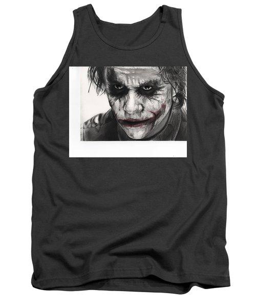 Joker Face Tank Top by James Holko