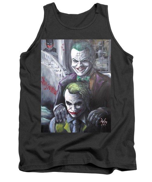 Jokery In Wayne Manor Tank Top by Tyler Haddox
