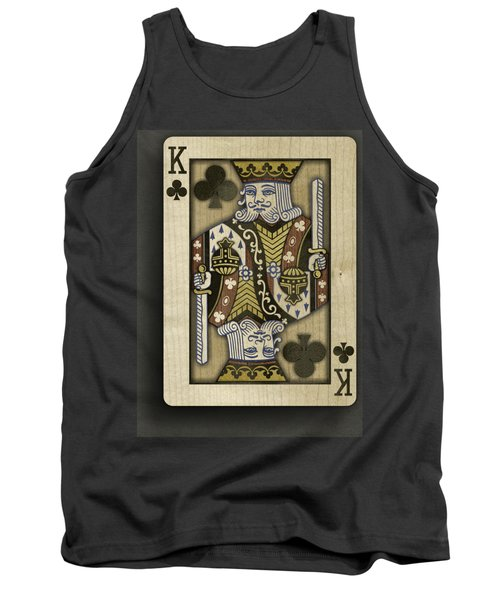 King Of Clubs In Wood Tank Top by YoPedro