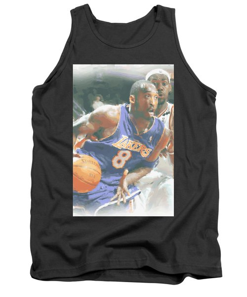 Kobe Bryant Lebron James Tank Top by Joe Hamilton