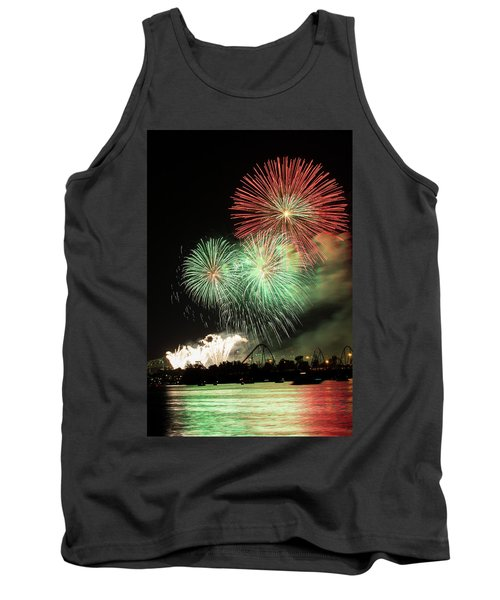 Montreal-fireworks Tank Top by Mircea Costina Photography
