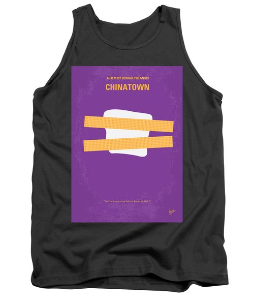 No015 My Chinatown Minimal Movie Poster Tank Top by Chungkong Art