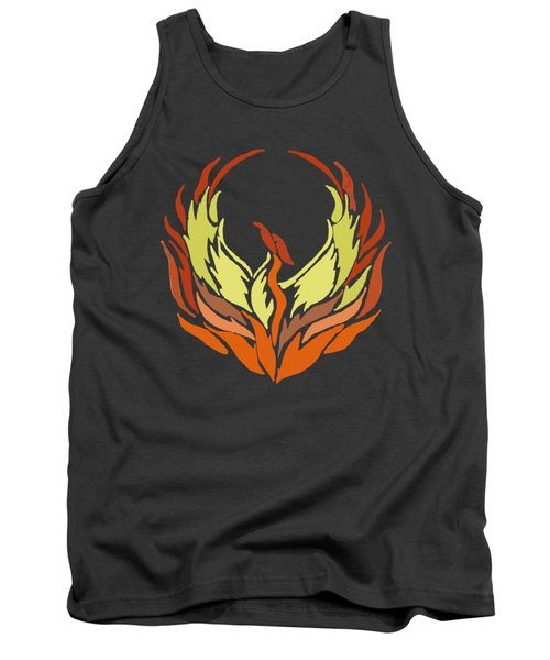 Phoenix Bird Tank Top by Priscilla Wolfe