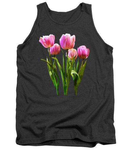 Pink Pastel Tulips Tank Top by Susan Savad