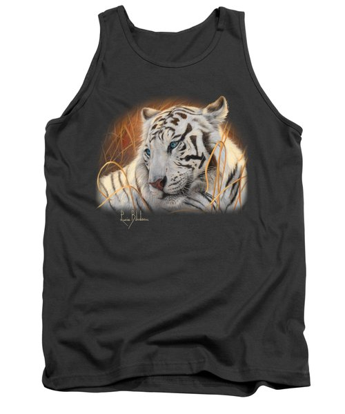 Portrait White Tiger 1 Tank Top by Lucie Bilodeau