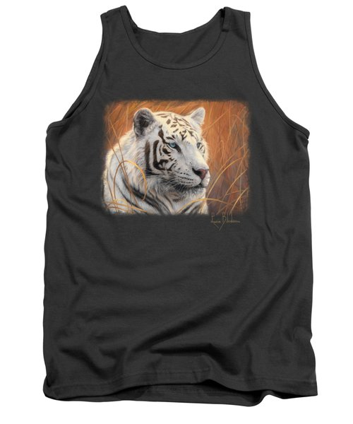 Portrait White Tiger 2 Tank Top by Lucie Bilodeau