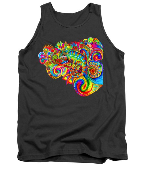 Psychedelizard Tank Top by Rebecca Wang