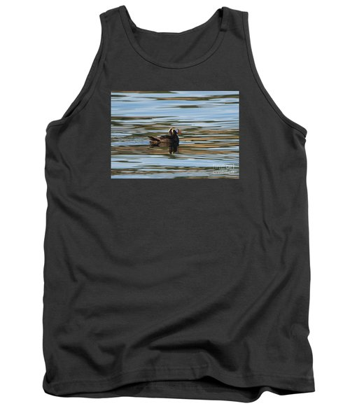 Puffin Reflected Tank Top by Mike Dawson
