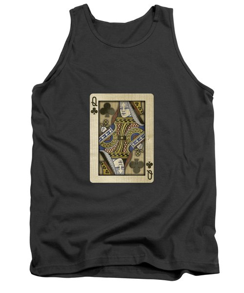 Queen Of Clubs In Wood Tank Top by YoPedro