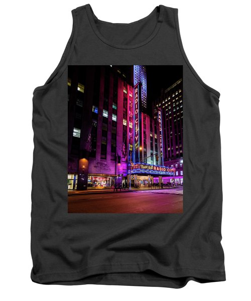 Tank Top featuring the photograph Radio City Music Hall by M G Whittingham