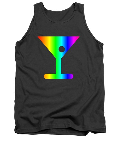 Rainbow Martini Glass Tank Top by Frederick Holiday