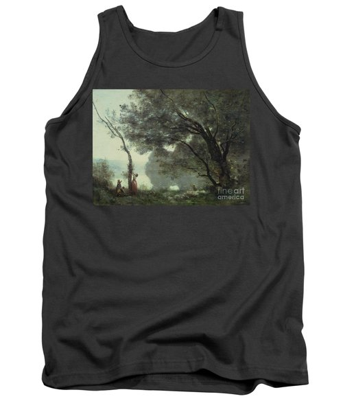 Recollections Of Mortefontaine Tank Top by Jean Baptiste Corot