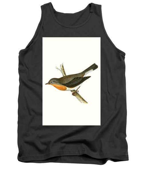 Red Breasted Flycatcher Tank Top by English School