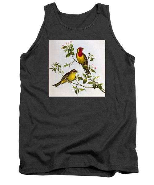 Red Headed Bunting Tank Top by John Gould