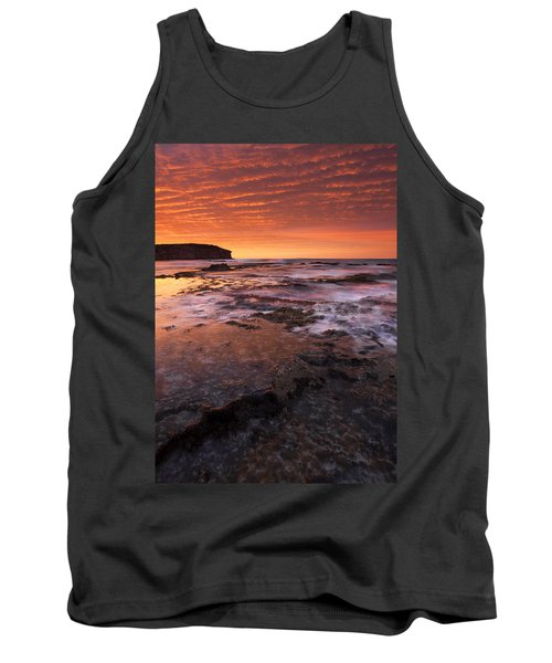 Red Tides Tank Top by Mike  Dawson