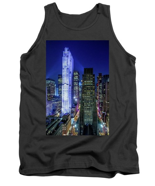 Tank Top featuring the photograph Rockefeller At Night by M G Whittingham
