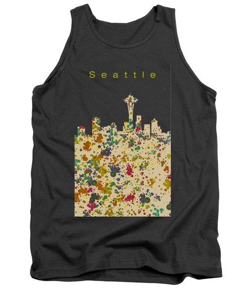 Seattle Skyline 1 Tank Top by Alberto RuiZ