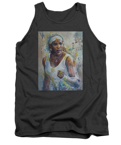 Serena Williams - Portrait 5 Tank Top by Baresh Kebar - Kibar
