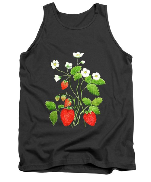 Strawberry  Tank Top by Color Color