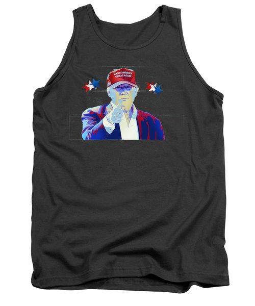 T R U M P Donald Trump Tank Top by Mr Freedom