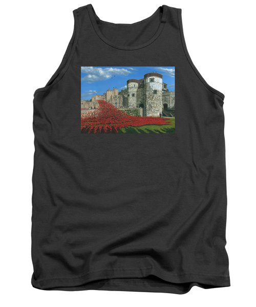 Tower Of London Poppies - Blood Swept Lands And Seas Of Red  Tank Top by Richard Harpum