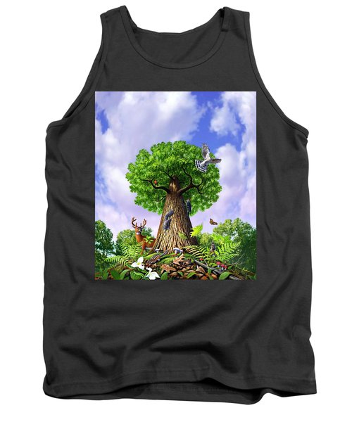 Tree Of Life Tank Top by Jerry LoFaro