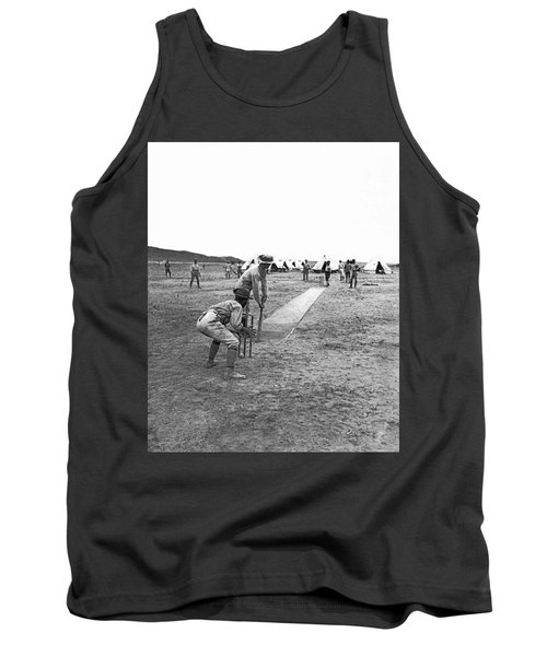 Troops Playing Cricket Tank Top by Underwood Archives