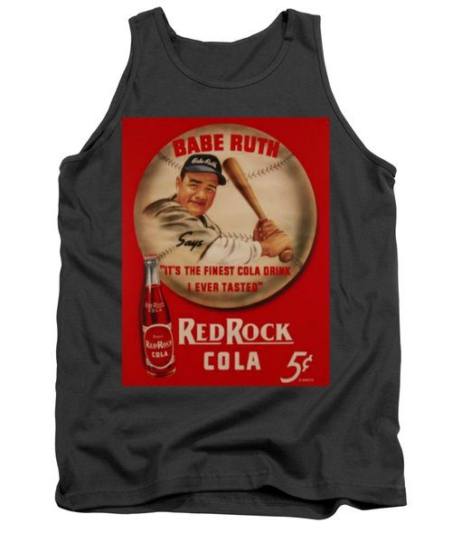 Vintage Babe Ruth Commercial Art Tank Top by Pd